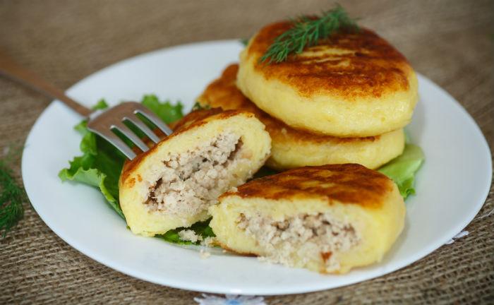 картофельные зразы с мясом для детей