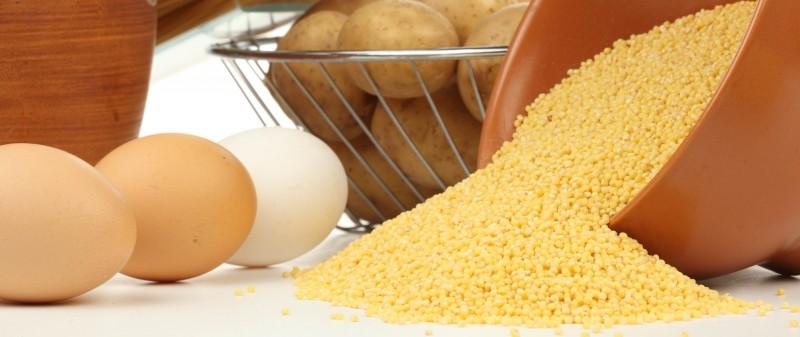 яйца и крупы