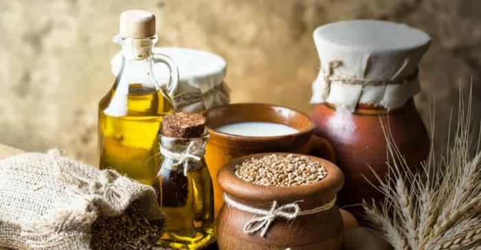 каши и оливковое масло